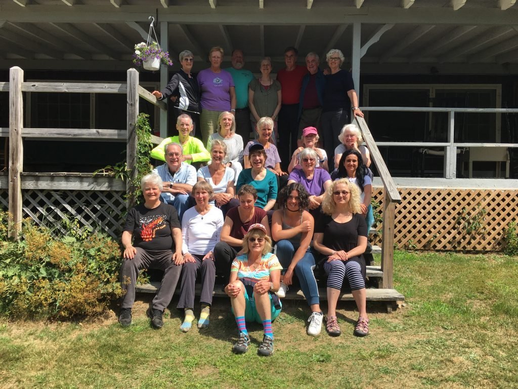 Our group at the 2017 Feldenkrais Retreat at Camp Medomak